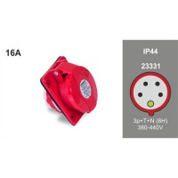 PANEL MOUTING SLOPING SOCKET IP44 23331