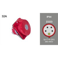 PANEL MOUTING SLOPING SOCKET IP44 23333