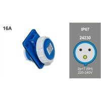 PANEL MOUTING SLOPING SOCKET IP67 24230