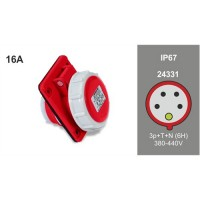 PANEL MOUTING SLOPING SOCKET IP67 24331