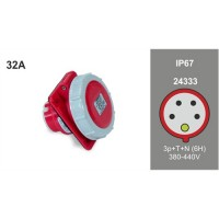 PANEL MOUTING SLOPING SOCKET IP67 24333